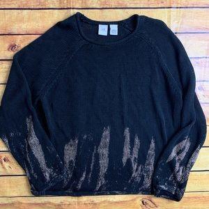Armani exchange Crochet 100% Linen sweater